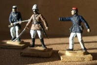 Officers of the French Foriegn Legion by Esci. Note Captain (1 Hand) Danjou!