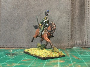 Figure #3 - Another figure with a horse from the Italeri French Hussars set.