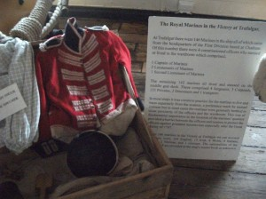 An example of the uniform of the Marines taken on board HMS Victory herself!